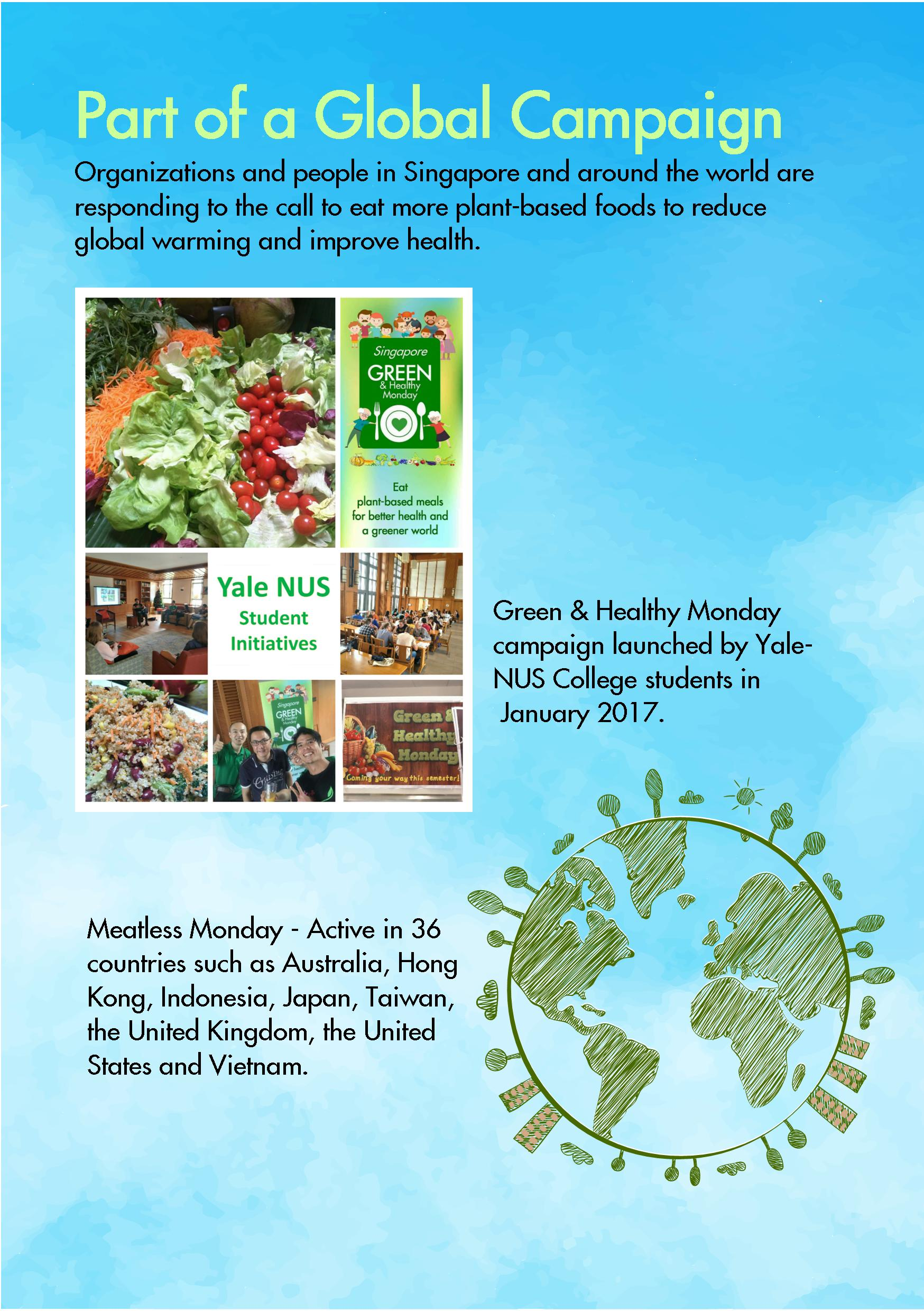 flyers for individuals green and healthy monday